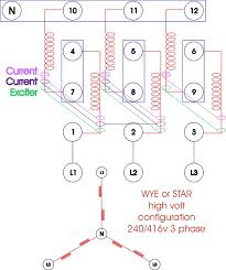 re wiring a three phase generator anoldman com Three Phase Wiring click to enlarge three phase wiring diagram