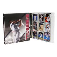Size Of A Baseball Card Xl Baseball Card Collection Holds 450 Cards Metal Rings Complete With 25 Pages