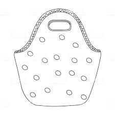 かわいい簡単水玉のランチバッグ簡単な漫画の手の描画オブジェクト