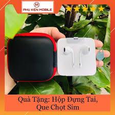 HCM]Tai Nghe Iphone 7 8 X Zin Bóc Máy New 100% - Tặng Kèm Hộp Đựng Cao Cấp  + Que Chọt Sim | Tai Nghe Có Dây Nhét Tai