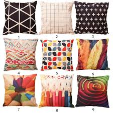 small pillow covers.  Pillow 43cm43cm Colorful Printed Cotton Linen Pillow Case Cushion Cover Home  Decorative Comfortable And Soft Coversin From U0026 Garden On  To Small Covers N