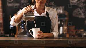 Then what is a coffee barista? Photos Female Barista Making A Cup Of Coffee 148478 Youworkforthem