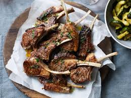 Grilled Lamb Chops With Marjoram Butter And Zucchini Recipe Rachel