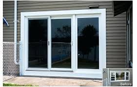nice triple sliding glass patio doors door company ct 3 panel andersen