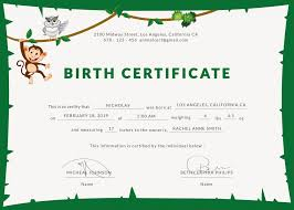 Birth Certificate Template Word Classy Animal Birth Certificate Template Trend Birth Certificate Templates