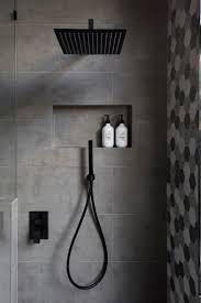Black And White Bathroom Best 25 Black Shower Ideas On Pinterest Concrete Bathroom