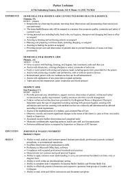 Hospice Aide Resume Samples Velvet Jobs