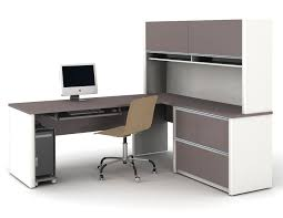 Stylish Desk Furniture Best Mainstays L Shaped Desk With Hutch For Home Office