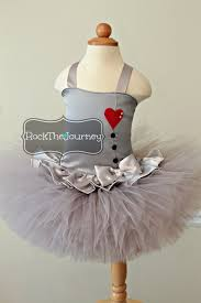 tin man girl wizard of oz birthday party tutu costume red heart and silver bow