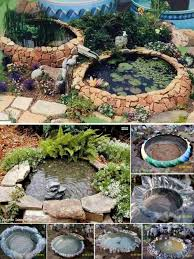Garden Ponds Designs Gorgeous Wonderful DIY Garden Ponds From Old Tires Kolam Pinterest