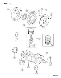 1996 chrysler cirrus crankshaft piston and torque converter diagram 00000h4a