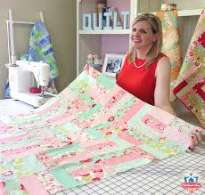 Jelly Roll Jam Free Quilt Pattern - The Jolly Jabber Quilting Blog & Go step-by-step with Kimberly, learning her tips and tricks for piecing  this quilt top! The video also covers some basic skills like cutting,  pressing, ... Adamdwight.com