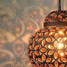 moroccan influenced lighting