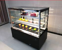 details about 220v glass countertop refrigerated cake pie showcase bakery display case cabinet
