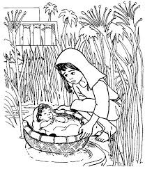 Baby Floated On The River Coloring Pages Preschooler Baby Floated On