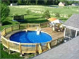 deck around above ground pool a