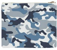 Camo Pattern Adorable Shop Blue And White Army Camo Pattern Clutch By ARTPICS Print All
