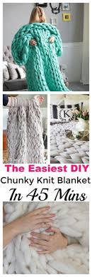 the easist way to make a chunky knit blanket