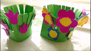 Kids Craft Easy Paper Craft Flower Garden Making For Kids Paper Craft Diy