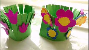 easy paper craft flower garden making for kids paper craft diy you