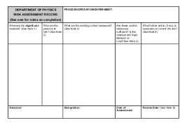 Risk Assessment Form - Powweb