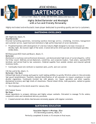 Bartender Resume Resume Templates For Servers Bartenders Best Of Bartender Resume 24
