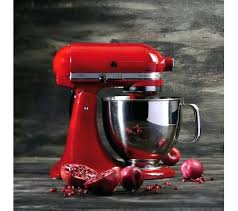 red kitchenaid mixer artisan stand empire toaster oven refurbished professional
