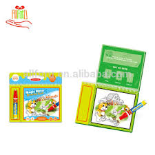 children magic water drawing book reusable water doodle book with pen