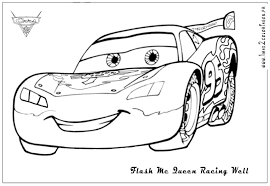 Coloriage Cars 2 Flash Mcqueen