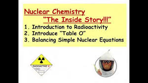 18 1 nuclear chemistry 1 radiation emission types simple decay equations
