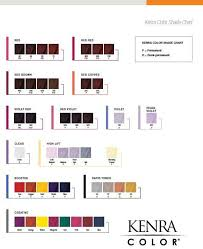 Kenra Color Chart Kenra Color Shade Chart Kenra Color Hair Color Swatches
