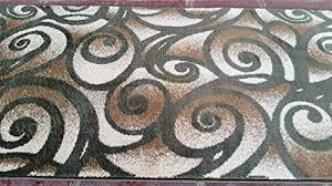 R Modern Long Runner Rug Green Bellagio Design 341 32 Inch X 15 Feet 10  B00SQ0CEIW