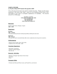 Resume Templates For Students With No Experience – Resume Directory