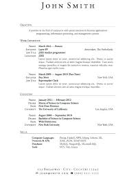 Simple Resume Format Enchanting Simple Format Of Resume Sample Professional Resume