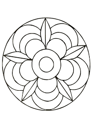 Small Picture Simple mandala 40 Mandalas Coloring pages for kids to print color