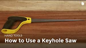 how to use a keyhole saw woodworking