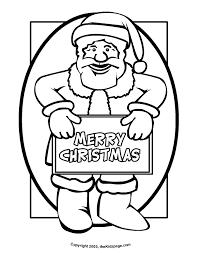 Santa Claus Printables Kids Christmas Santa Claus Coloring Page Sheets Creativeinfotech Info