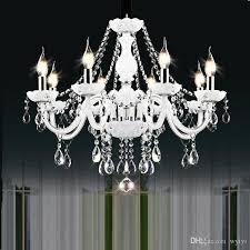 modern white crystal chandelier lights lamp chandeliers for bedroom living room fixture crystal light res de crista lighting ceiling light fixtures