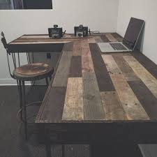rustic office desk. rustic lshaped desk made from reclaimed wood by crtcreative office