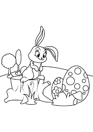 Free easter coloring pages on topcoloringpages.net mean great quality + original designs. Coloring Page Easter Bunny With Easter Eggs Free Printable Coloring Pages Img 30826