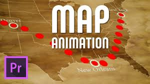 Animated Travel Map Draw An Animated Travel Line On Map Premiere Pro Free Template Download
