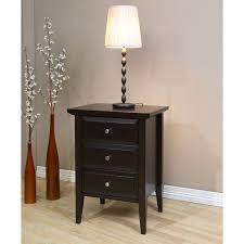 18 inch wide nightstand. interesting nightstand store all of your nighttime essentials in style with this handsome brown  threedrawer nightstand with 18 inch wide nightstand p