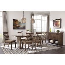 ashley dining room table set. ashley furniture zilmar rectangular dining room table set in brown e