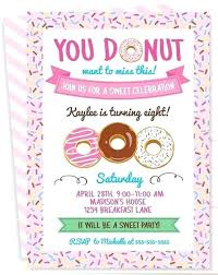Party Invitations Free Printable Donuts Invitation Templates