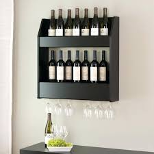 amazing wall mounted wine glass rack solid wood excellent 7 clever ways adding racks your bottle