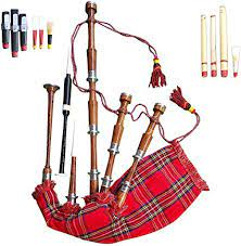 It looks exactly like the violin but makes more odd sounds. Amazon Com Scottish Great Highland Bagpipe Full Set Ready To Play Free Bagpipe Tutor Book Musical Instruments