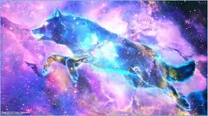 Mythical Galaxy Wolf Night Sky Galaxy ...