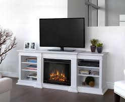 image of tv stand with built in electric fireplace