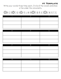 Spelling List And Activity Template Pack Homework