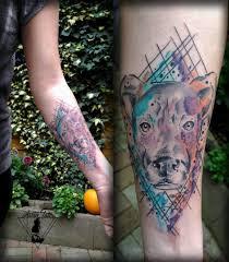 Tetování Pes Ve Vodovce Watercolour Dog Tattoo Tetování Tattoo